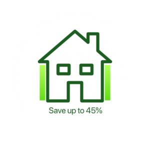 Save 45% external wall insulation